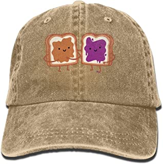 HNE&NQA Baseball Jeans Cap Peanut Butter and Jelly Men Snapback Caps Polo Style Low Profile