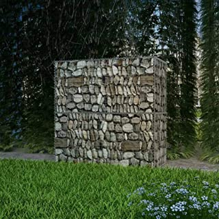 vidaXL gabionowy kosz stalowy 100 x 50 x 100 cm zewnętrzny kosz ogrodowy ogrodzenie z drutu