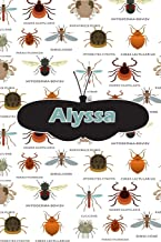 Alyssa: Insect Themed Comprehensive Garden Notebook with Garden Record Diary, Garden Plan Worksheet, Monthly or Seasonal Planting Planner, Expenses, Chore List, Highlights Simulated Leather