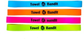 Towel BandIt Beach Towel Holder Tropical 4 Pack-Keeps Your Towel on Your Chair