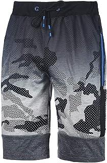 VonVonCo Mens Fitness Camouflage Bodybuilding Pocket Skin Short Sports Pants M-3XL