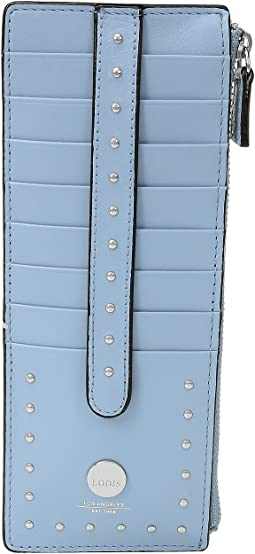 Lodis Accessories - Pismo Stud RFID Credit Card Case with Zipper Pocket