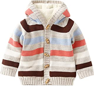 DONGXIUB Baby Girl Boy Flannel Button Hooded Jacket Cloak