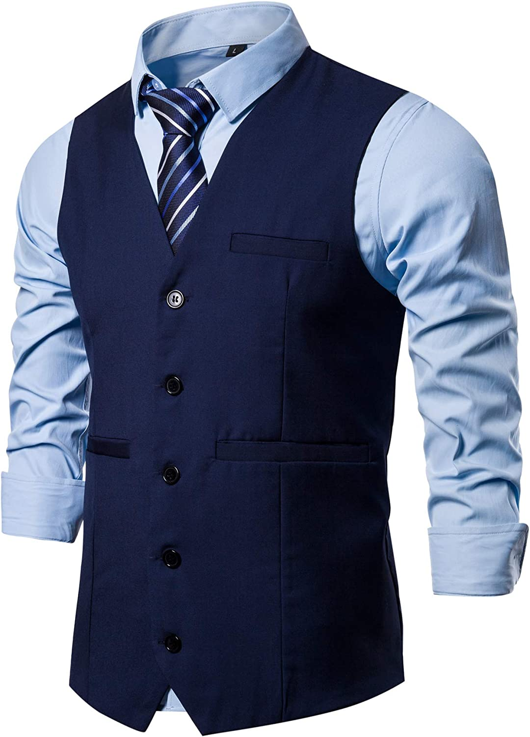 DONGD Mens Formal Suit Colorado Springs Mall Vest Tuxe for Today's only or Dress Business