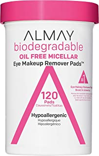 پد های پاک کننده آرایش چشم میسلار Almay Biodegradable Oil Free ، ضد حساسیت ، ضد خش ، بدون دستمال مرطوب ، دستمال مرطوب بدون عطر ، 120 شمارش