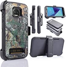 Motorola Z2 Force, Z2 Play, XT1789 [Four Layered Protection] Heavy Duty Defender Holster Armor Case Built in Screen Protector (CAMO)