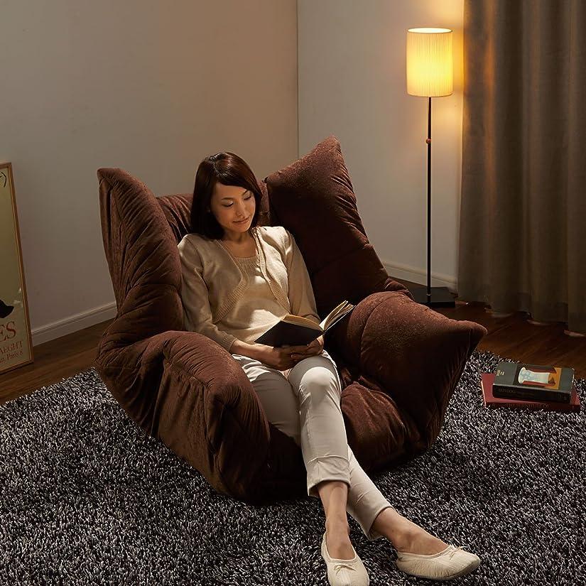 スマートブリード適合マルチリクライニング コンパクトソファ(座椅子) ハイバックタイプ 658813(サイズはありません イ:ダークブラウン)