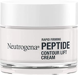 Neutrogena Rapid Firming Peptide Contour Lift Face Cream, Moisturizing Daily Facial Cream to visibly firm & lift skin plus smooth the look of wrinkles, Mineral Oil- & Dye-Free, 1.7 oz