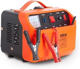 Röhr DFC-10P - Cargador Batería de Coche con 2 Modos Turbo y Lento - Tecnología reparación y Mantenimiento - 10A - 6V/12V