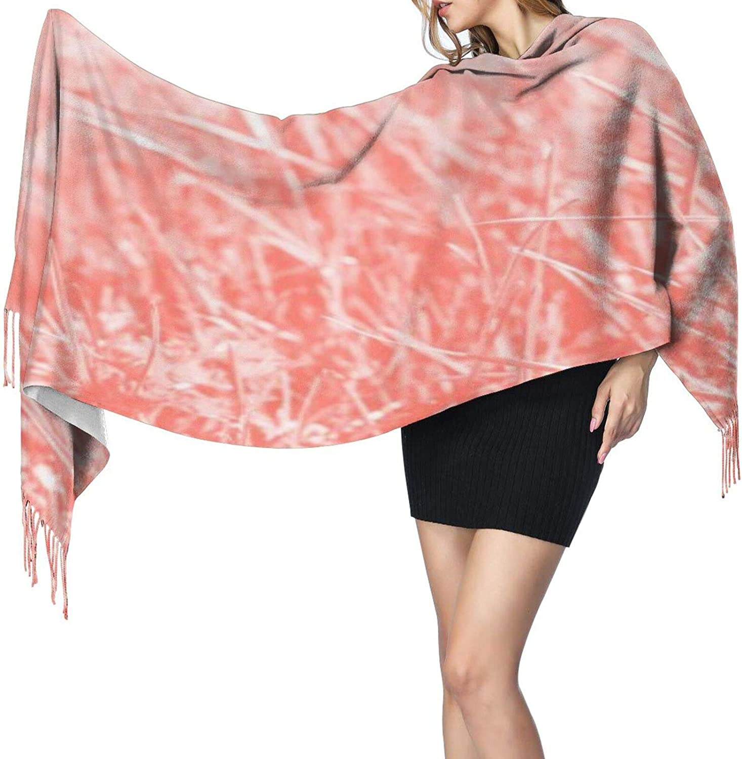 Cashmere fringed scarf Color Of The Year 2019 winter extra large scarf