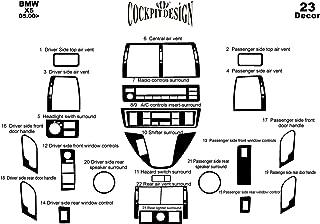 41 Pieza MERIC Decoraci/ón de Salpicadero Color: Titanio espec/íficamente para el veh/ículo Versi/ón 3D exclusiva CD-TI00323