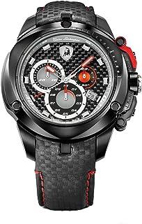 Tonino Lamborghini Shield Series for Men - Analog Leather Band Watch - 7804