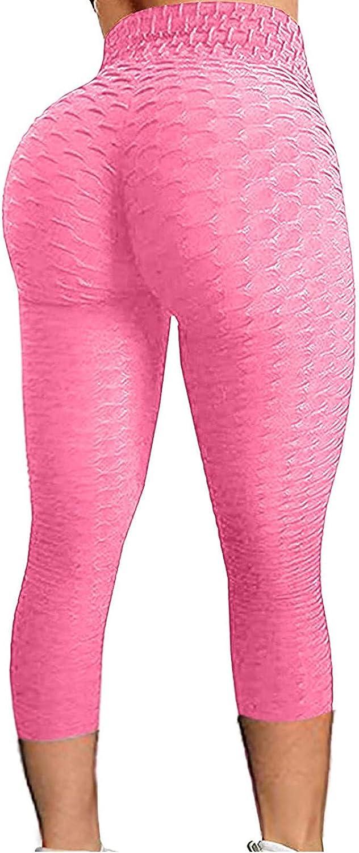 Butt Lift Leggings for Women,Women's High Waist Scrunch Butt Leggings Textured Sexy Gym Sports Yoga Pants
