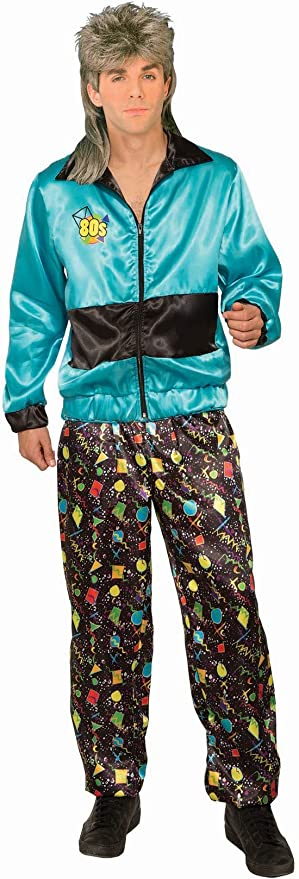 90s Outfits for Guys | Trendy, Party, Cool, Casaul Forum Novelties 1980s Track Suit Male Adult Costume  AT vintagedancer.com