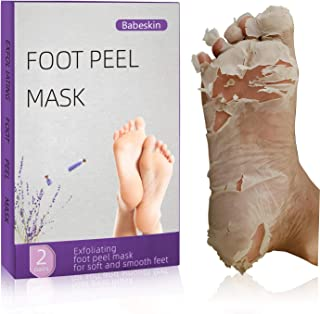 Foot Peel Mask,Babeskin Foot Mask 4 Pieces Of Foot Peel Mask, Exfoliant For Soft Feet In 1-2 Weeks, Exfoliating Booties Fo...