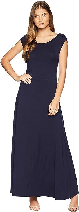 V-Back Maxi Dress