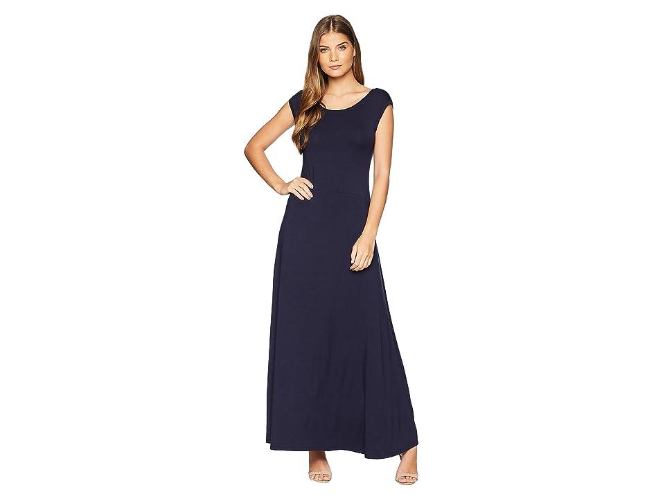 Karen Kane V-Back Maxi Dress (Navy) Women