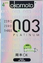 Okamoto 003 Platinum Condoms, 4 ct