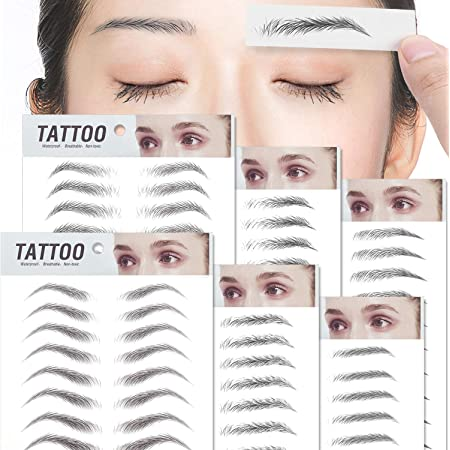 66 Pares Tatuaje Pegatinas de Cejas,6D Impermeable Natural Plantilla Cejas Biónicas Larga Duración de Herramienta de Maquillaje (Serie 1)