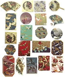 DzdzCrafts 60pcs Xian He Japanese Flavor Gold Metallic Stickers for Lipsticks Scrapbooking Laptop Diary (2-4 Inches)