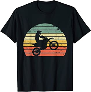 تی شرت دوچرخه خاکستری Retro Motocross