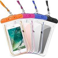 Deals on 4PK F-color Waterproof Case Transparent PVC Phone Pouch