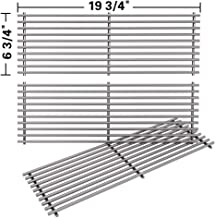 SHINESTAR Stainless Steel Grill Grates Replacement for Char Griller Duo 5050 5650 5072 Gas Charcoal Grill Parts, 3001 3072, Cooking Grates for Chargriller Charcoal Grill 2121, Kingsford Grill