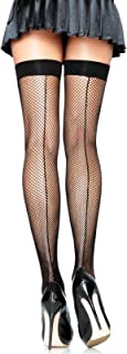 Women's Fishnet Thigh Highs with Backseam