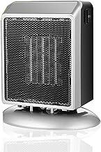 AKDXM Calefactor Eléctrico 900W Función Silence Protección Sobrecalentamiento Rápido Calentamiento Fácil de Transportar para Hogar y Oficina,Plata