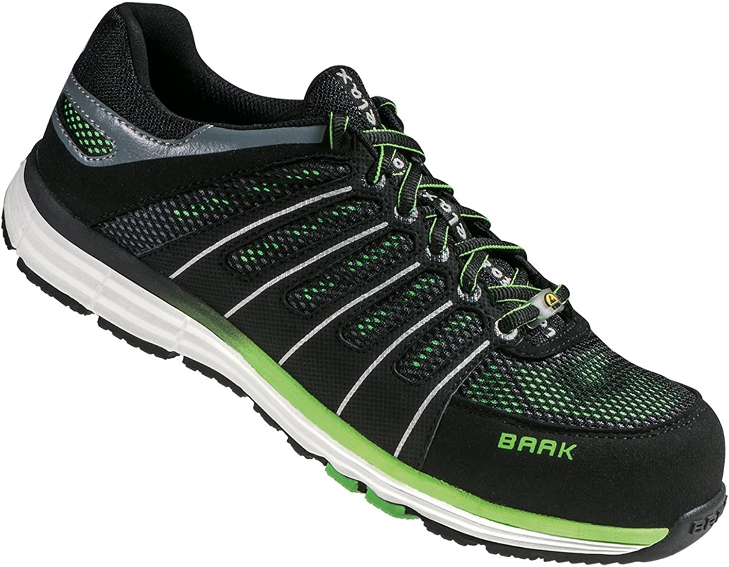 Baak Reeny, Unisex Adults' SRC Safety shoes, Multicolour (Black Green), 6.5 UK (40 EU)