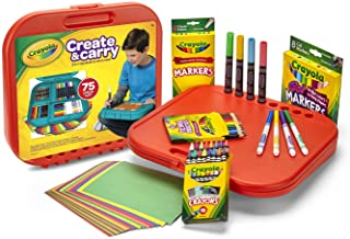 Crayola Create 'N Carry Art Kit Art Gift 2-in-1 Portable Lap Desk & Carry-Case for Child Artists On-The-Go,75Piece, Styles...