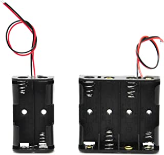 Gikfun Plastic Battery Storage Case Holder For 4 X AA and 2 X AA wire leads Arduino EK8304