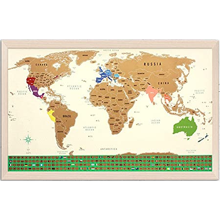 Uranuspro-Scratch Off World Map//detailed World Map to rub in XXL Post