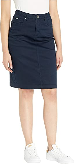 Soft Hues Denim Skirt in Navy
