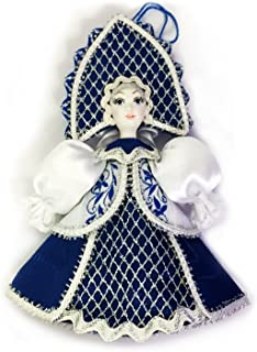 Religious Gifts Russian Doll with Kokoshnik Porcelain Face Christmas Ornament 5 Inch