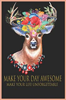 make your day awesome make your life unforgettable lined notebook best gift for yours kids: make your day awesome make you...