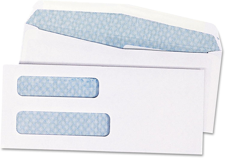 Envelopes,Double Window,No 8-5 8(3-5 8 x8-5 8 )1000 CT,White, Sold as 1 Carton