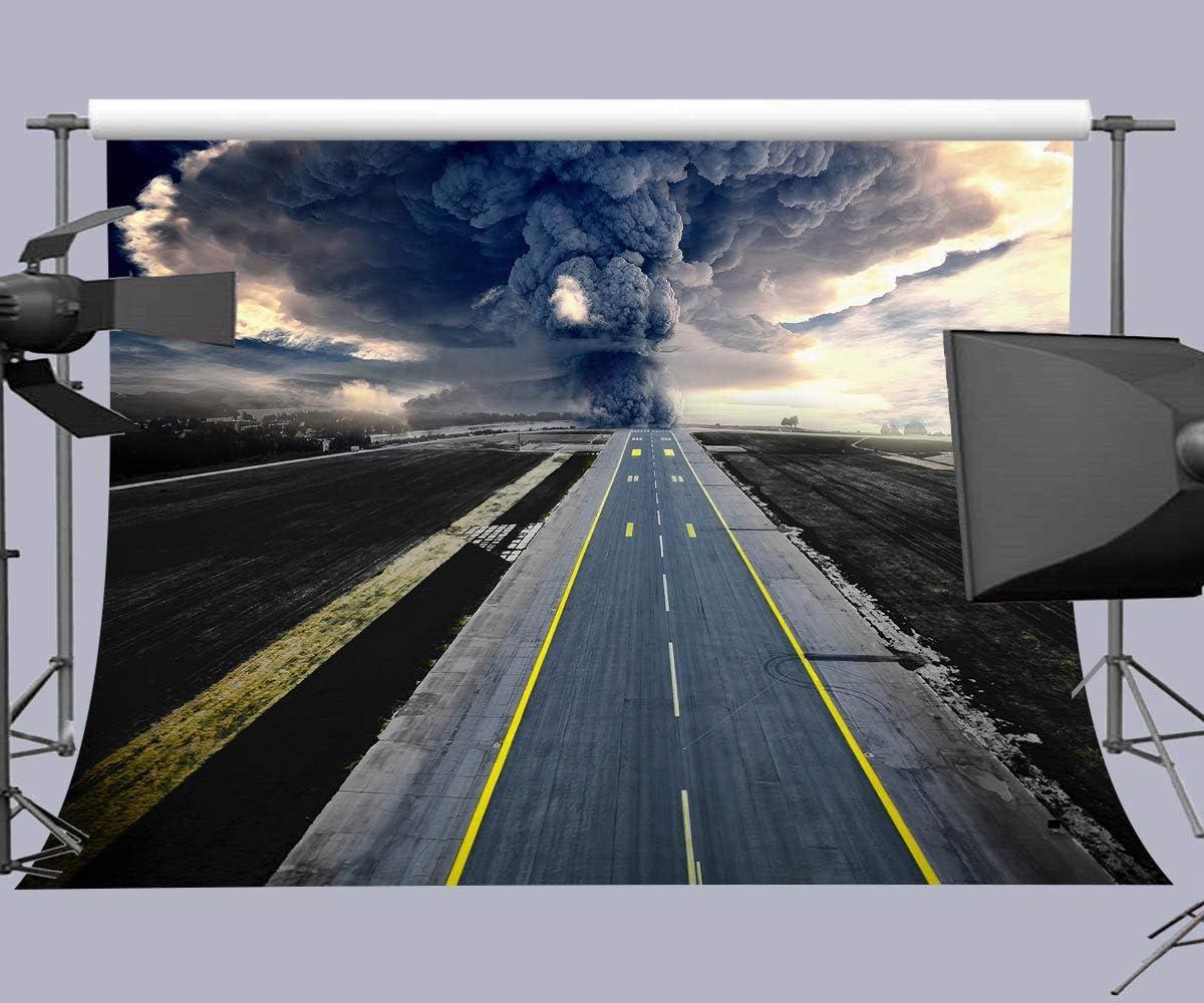 10x6.5ft Customized Background Highway Explosion Photography Backdrop YouTube Studio Photo Props LYFU127