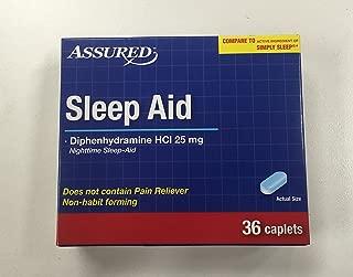 Assured Sleep Aid Diphenhydramine HCI 25 Mg