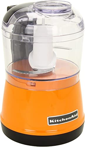 lowest KitchenAid outlet online sale discount KFC3511TG 3.5-Cup Food Chopper - Tangerine (RENEWED) CERTIFIED REFURBISHED outlet online sale