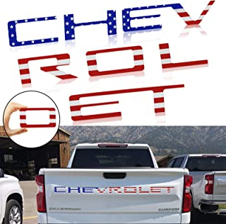 JINGSEN Tailgate Inserts Letters Compatible for Chevrolet Silverado 2019 2020 2021, 3D Raised & Strong Adhesive Decals Let...