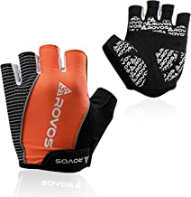 ROVOS Half Finger Cycling Gloves Men/Women, Shock Absorbing Meterials Protect Your Palms From Injury, Breathable Design isn't Stuffy, Anti Slip Design for Safe Riding, Suitable for Mountain Bike Sport