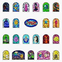 Stained Glass Adventure Time Collection Vinyl Waterproof Sticker Decal Car Laptop Wall Window Bumper Sticker 5