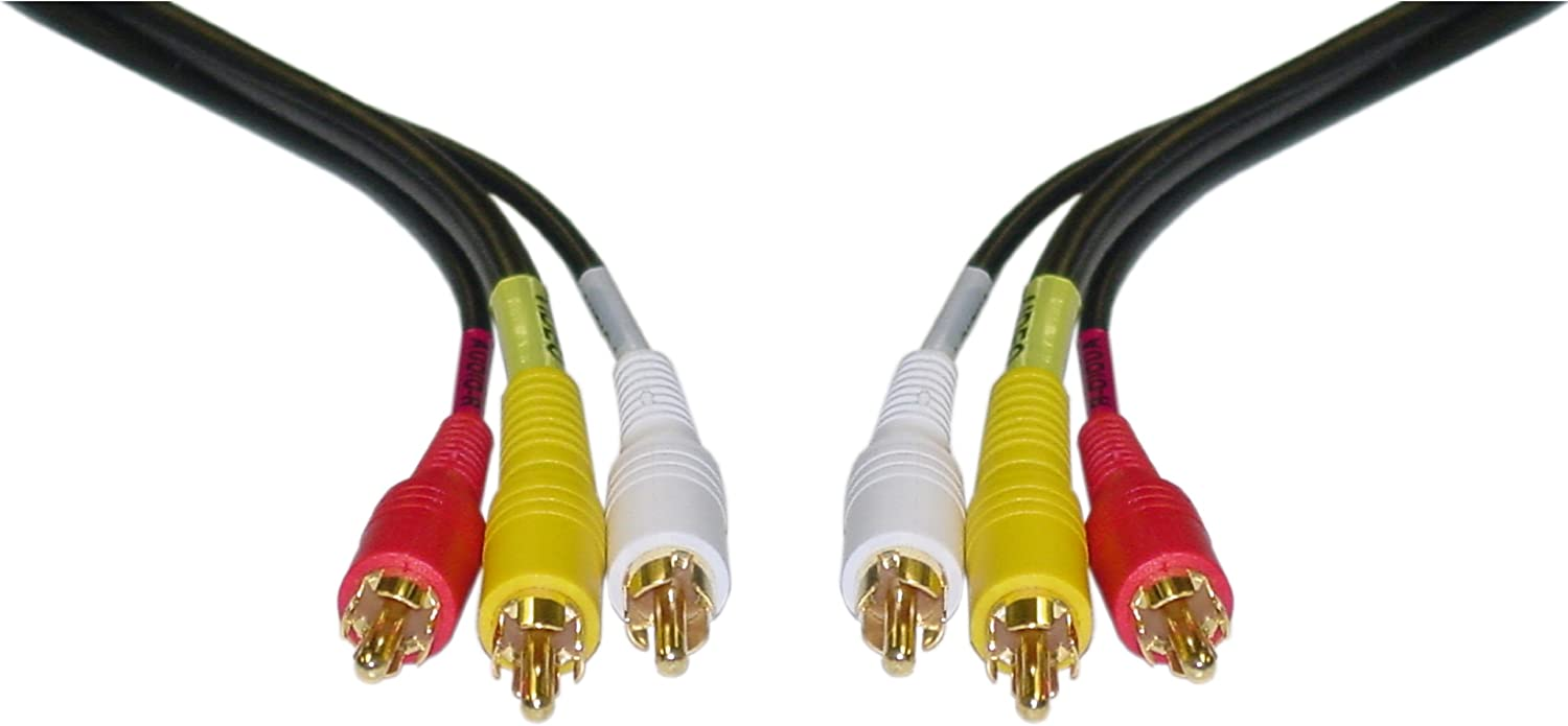 CableWholesale favorite 3-Feet Stereo VCR RCA Cable Audio + 2 Los Angeles Mall
