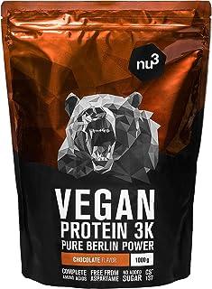 Batidos de proteínas veganas - Proteína vegetal 3K en polvo - de 3 componentes vegetales (guisante, cáñamo & arroz) - 1 Kg...