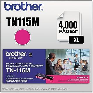 Brother TN115M High-Yield Toner Cartridge, Magenta - in Retail Packaging