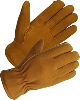 SKYDEER Men's and Women's Winter Gloves with Windproof & Soft & Warm Full Deerskin Suede Leather (SD8673T/M)
