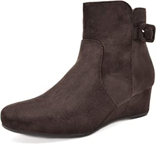 f8b542078f5 Amazon.com  Wedge - Ankle   Bootie   Boots  Clothing