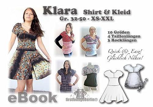 Klara Nähanleitung mit Schnittmuster für Top & Jersey-Kleid in 3 Längen Dress [Download]