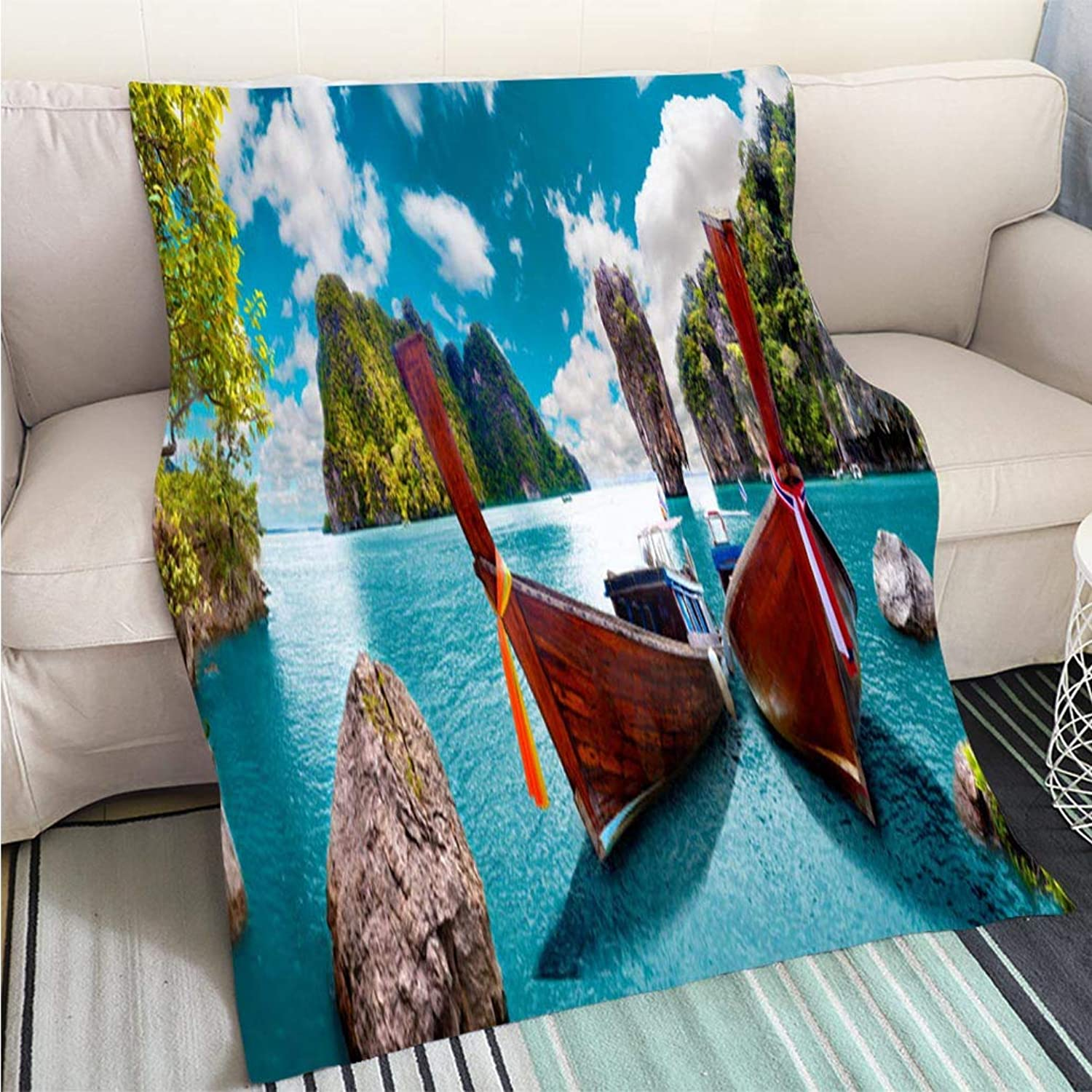 BEICICI Luxury Super Soft Blanket Scenic landscapePhuket Seascape Sofa Bed or Bed 3D Printing Cool Quilt